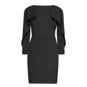BCBG MAX AZRIA WOMENS SHORT RUFFLED TEXTURED DRESS